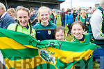 Kerry players celebrate their victory over Meath in the All Ireland Junior Football Final at O'Moore Park, Portlaoise on Saturday.