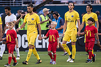 Orlando, FL - Saturday July 22, 2017: Paris Saint-Germain during the International Champions Cup (ICC) match between the Tottenham Hotspurs and Paris Saint-Germain F.C. (PSG) at Camping World Stadium.