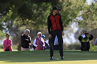Sebastian Heisele (GER) on the 7th green during Round 2 of the Challenge Tour Grand Final 2019 at Club de Golf Alcanada, Port d'Alcúdia, Mallorca, Spain on Friday 8th November 2019.<br /> Picture:  Thos Caffrey / Golffile<br /> <br /> All photo usage must carry mandatory copyright credit (© Golffile | Thos Caffrey)