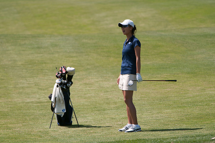 April 18, 2012; Hollister, CA, USA; BYU Cougars golfer Maggie Yuan during the WCC Golf Championships at San Juan Oaks Golf Club.