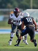 Offensive Tackle Issiah Walker Jr. (54) - Norland Vikings (Miami) vs IMG Academy Football on October 26, 2019 at IMG Academy in Bradenton, Florida.  (Mike Janes Photography)