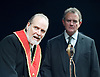 An Enemy of the People <br /> by Henrik Ibsen <br /> a version by Christopher Hampton <br /> at Chichester Festival Theatre, Chichester, West Sussex, Great Britain <br /> Press photocell <br /> 29th April 2016 <br /> <br /> Trevor Cooper as Morten Kiil <br /> Hugh Bonneville as Dr Tomas Stockmann <br /> <br /> <br /> <br /> Photograph by Elliott Franks <br /> Image licensed to Elliott Franks Photography Services
