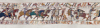 11th Century Medieval Bayeux Tapestry - Scene 56 -  Harold army is cut down