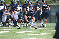 Sean Cascarano during open spring practice for the Virginia Cavaliers football team August 7, 2009 at the University of Virginia in Charlottesville, VA. Photo/Andrew Shurtleff