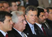 SAO PAULO, SP, 05 MARÇO DE 2013 - LANÇAMENTO EXPO 2020 - O prefeito de Buenos Aires Mauricio Macri durante lançamento da candidatura de São Paulo como sede da Expo 2020, nesta terça-feira, 05. (FOTO: VANESSA CARVALHO / BRAZIL PHOTO PRESS).