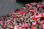 Liverpool's fans in the new main stand during the premier league match at the Anfield Stadium, Liverpool. Picture date 19th August 2017. Picture credit should read: David Klein/Sportimage