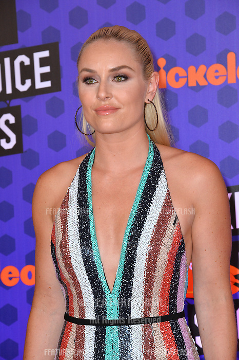 Lindsey Vonn at the Nickelodeon Kids' Choice Sports Awards 2018 at Barker Hangar, Santa Monica, USA 19 July 2018<br /> Picture: Paul Smith/Featureflash/SilverHub 0208 004 5359 sales@silverhubmedia.com