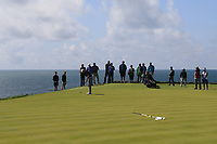 Ronan Mullarney (Galway) on the 6th green during the Final of the AIG Irish Amateur Close Championship 2019 in Ballybunion Golf Club, Ballybunion, Co. Kerry on Wednesday 7th August 2019.<br /> <br /> Picture:  Thos Caffrey / www.golffile.ie<br /> <br /> All photos usage must carry mandatory copyright credit (© Golffile | Thos Caffrey)