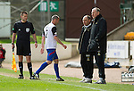 St Johnstone v Inverness Caley Thistle.....27.04.13      SPL.Terry Butcher and Maurice Malpas ignore David Raven after he is sent off.Picture by Graeme Hart..Copyright Perthshire Picture Agency.Tel: 01738 623350  Mobile: 07990 594431