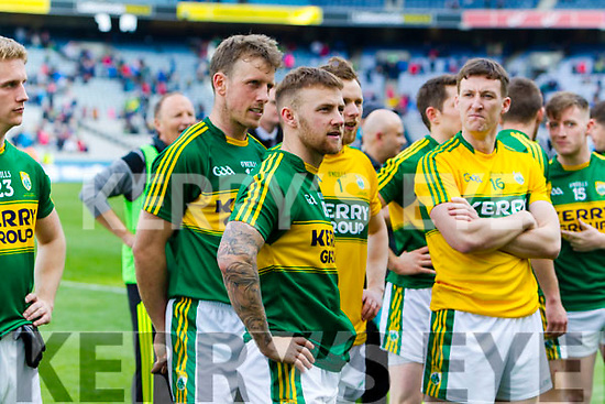 Barry John Keane Kerry players celebrate after defeating Dublin at the National League Final in Croke Park on Sunday.