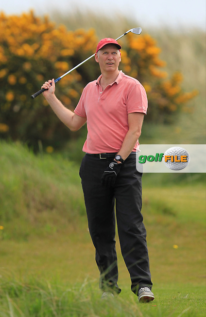 John Rooney (MD Flogas) on the 8th tee during the Flogas Irish Amateur Open Championship Am-Am at Royal Dublin on Monday 9th May 2016.<br /> Picture:  Thos Caffrey / www.golffile.ie