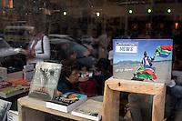 CAPE TOWN, SOUTH AFRICA - MARCH 22: The windows at the Book Lounge on March 22, 2012 in Cape Town, South Africa (Photo by Per-Anders Pettersson)
