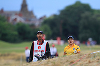 Misuzu Narita (JPN) on the 3rd during Round 2 of the Ricoh Women's British Open at Royal Lytham &amp; St. Annes on Friday 3rd August 2018.<br /> Picture:  Thos Caffrey / Golffile<br /> <br /> All photo usage must carry mandatory copyright credit (&copy; Golffile | Thos Caffrey)