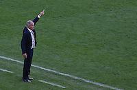 Argentina coach Alejandro Sabella gestures on the touchline