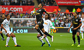 10th September 2017, Liberty Stadium, Swansea, Wales; EPL Premier League football, Swansea versus Newcastle United; Isaac Hayden of Newcastle United wins the ball ahead of Renato Sanches of Swansea City