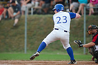 25 july 2010: David Gauthier of Team France is seen at bat during France 6-1 victory over Czech Republic, in day 3 of the 2010 European Championship Seniors, in Neuenburg, Germany.