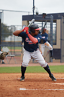 Atlanta Braves Braulio Vasquez (14) during a Minor League Spring Training game against the New York Yankees on March 12, 2019 at New York Yankees Minor League Complex in Tampa, Florida.  (Mike Janes/Four Seam Images)
