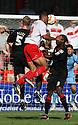 Darius Charles of Stevenage heads for goal. Stevenage v Crewe Alexandra - npower League 1 -  Lamex Stadium, Stevenage - 15th September, 2012. © Kevin Coleman 2012.