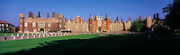 © David Paterson.The main facade of Hampton Court Palace, west London, home of the medieval kings and queens of England...Keywords: Hampton, court, palace, royal, regal, Tudor, Henry, facade, front, entrance, gateway