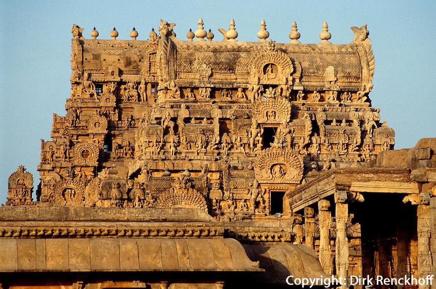Brihadishwara Tempel  in Thanjavur (Tanjore), Tamil Nadu, Indien