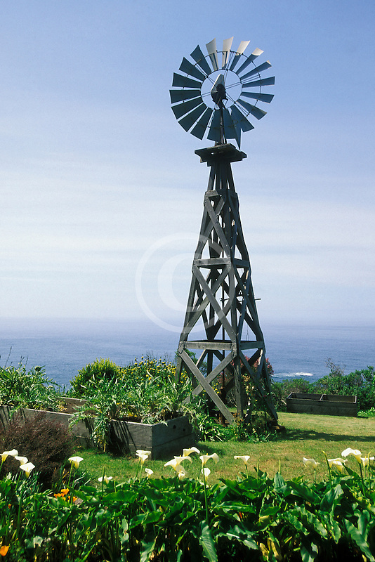 California, Mendocino County, Windmill, Navarro Bluff Road