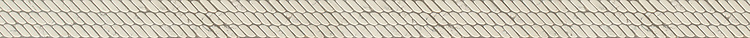 """2 1/16"""" Cardigan border, a waterjet and hand-cut stone mosaic, shown in tumbled Bianco Antico, is part of the Tissé® collection for New Ravenna."""
