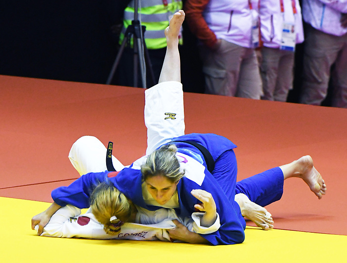 Priscilla Gagne competes in Para Judo at the 2019 ParaPan American Games in Lima, Peru-24aug2019-Photo Scott Grant