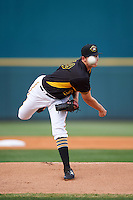 Bradenton Marauders starting pitcher Austin Coley (19) delivers a pitch during a game against the Lakeland Flying Tigers on April 16, 2016 at McKechnie Field in Bradenton, Florida.  Lakeland defeated Bradenton 7-4.  (Mike Janes/Four Seam Images)
