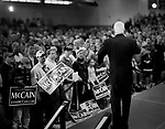 "Senator John McCain, Republican presidential candidate, campaigning for ""Super Tuesday"" votes. St. Louis, Missouri, February 1, 2008."