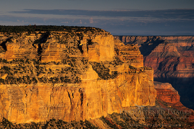 Morning light on the canyon from Yavapai Point, South Rim, Grand Canyon National Park, Arizona