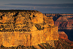 Morning light on the canyon from Yavapai Point, South Rim, Grand Canyon National Park, Arizona