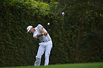 AUGUSTA, GA - APRIL 12: Dustin Johnson tees off during the Second Round of the 2013 Masters Golf Tournament at Augusta National Golf Club on April 10in Augusta, Georgia. (Photo by Donald Miralle) *** Local Caption ***