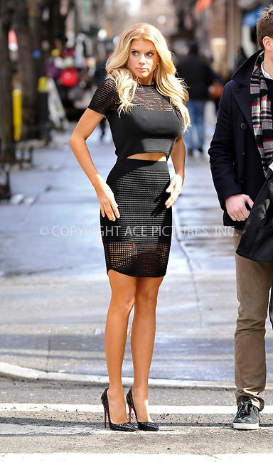WWW.ACEPIXS.COM<br /> <br /> March 31 2015, New York City<br /> <br /> Actress/Model Charlotte McKinney is interviewed on the street in New York City on March 31 2015.<br /> <br /> <br /> Please byline: Curtis Means/ACE Pictures<br /> <br /> ACE Pictures, Inc.<br /> www.acepixs.com, Email: info@acepixs.com<br /> Tel: 646 769 0430