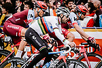 World Champion Alejandro Valverde (ESP) Movistar Team, Marco Haller and Marcel Kittel (GER) Team Katusha Alpecin in action during the 2018 Saitama Criterium, Japan. 4th November 2018.<br /> Picture: ASO/Pauline Ballet | Cyclefile<br /> <br /> <br /> All photos usage must carry mandatory copyright credit (&copy; Cyclefile | ASO/Pauline Ballet)