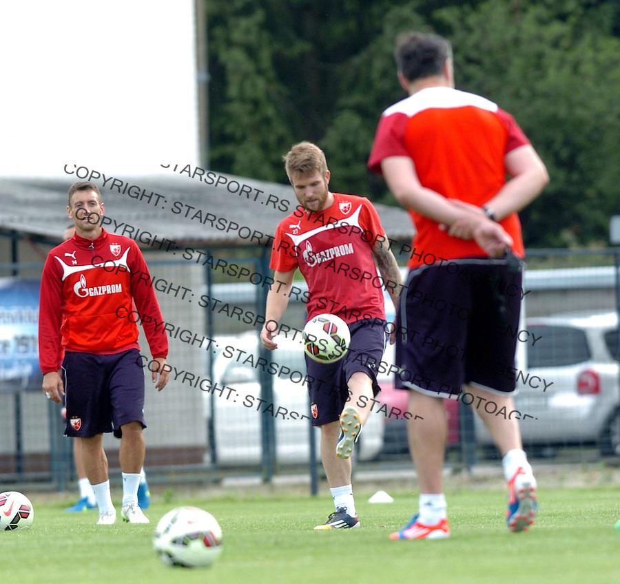 FUDBAL - PRIPREME - CRVENA ZVEZDA - TRENING -Aleksandar Katai fudbaler Crvene Zvezde na treningu.<br /> Brezice, 18.06.2015.<br />                              foto:N.Skenderija