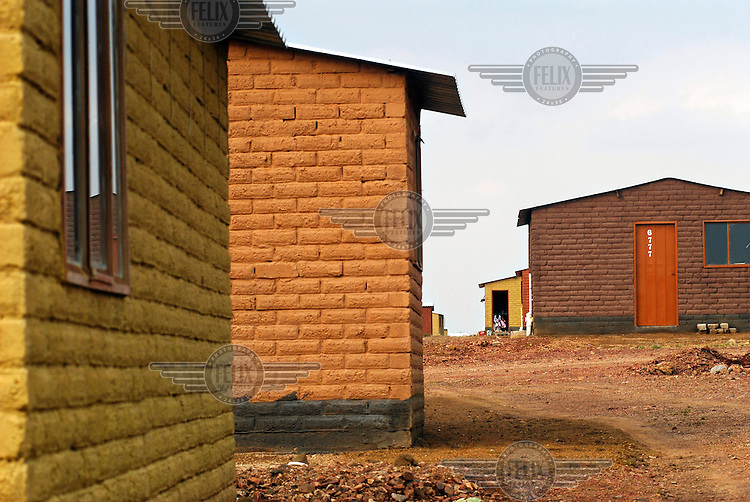 New build government housing, replacing rough, self-built shacks, in Nellmaius, Mamelodi township.