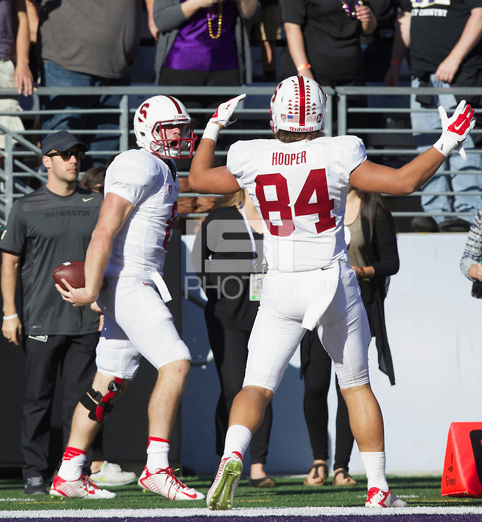 SEATTLE WA - Saturday, September 27, 2014: Stanford beats the University of Washington 20-13 at Husky Stadium in Seattle.