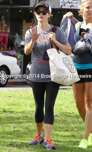 Pictured: Reese Witherspoon<br /> Mandatory Credit &copy; Ben Foster/Broadimage<br /> Reese Witherspoon leaving Yoga Classes in Brentwood<br /> <br /> 3/7/14, Brentwood, California, United States of America<br /> <br /> Broadimage Newswire<br /> Los Angeles 1+  (310) 301-1027<br /> New York      1+  (646) 827-9134<br /> sales@broadimage.com<br /> http://www.broadimage.com<br /> <br /> <br /> Pictured: Reese Witherspoon<br /> Mandatory Credit &copy; Ben Foster/Broadimage<br /> Reese Witherspoon leaving Yoga Classes in Brentwood<br /> <br /> 3/7/14, Brentwood, California, United States of America<br /> Reference: 030714_HDLA_BDG_011<br /> <br /> Broadimage Newswire<br /> Los Angeles 1+  (310) 301-1027<br /> New York      1+  (646) 827-9134<br /> sales@broadimage.com<br /> http://www.broadimage.com