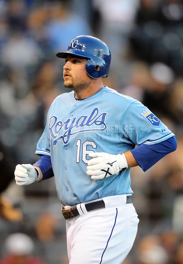 Oct. 2, 2010; Kansas City, MO, USA; Kansas City Royals first baseman Billy Butler against the Tampa Bay Rays at Kauffman Stadium. Mandatory Credit: Mark J. Rebilas-