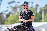 NZL-Madison Crowe rides Waitangi Pinterest during the arena familiarisation for the RM Williams CCI4*-S. 2019 AUS-Mitsubishi Motors Australian International 3 Day Event. Victoria Park. Adelaide. South Australia. Thursday 14 November. Copyright Photo: Libby Law Photography