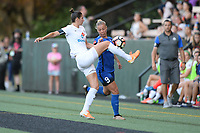 Seattle, WA - Saturday June 24, 2017: Yael Averbuch, Merritt Mathias during a regular season National Women's Soccer League (NWSL) match between the Seattle Reign FC and FC Kansas City at Memorial Stadium.