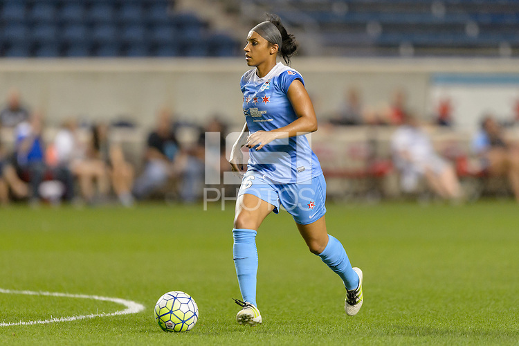 Chicago, IL - Wednesday Sept. 07, 2016: Samantha Johnson during a regular season National Women's Soccer League (NWSL) match between the Chicago Red Stars and FC Kansas City at Toyota Park.