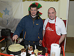 Sean Flanagan and Thomas McGrory pictured at the christmas craft fair in Clogherhead community hall. Photo:Colin Bell/pressphotos.ie