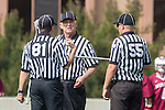 Los Angeles, CA 02/17/14 - Referees in action during the Santa Clara University - Loyola Marymount University MCLA's Men's lacrosse game at Loyola Marymount University.  Santa Clara defeated LMU 11-10 in overtime.