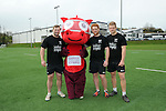 Morgan Allen, Dylan the Dragon, Dan Baker and Ollie Cracknell