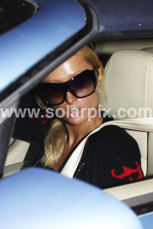 **ALL ROUND PICTURES FROM SOLARPIX.COM**.**WORLDWIDE SYNDICATION RIGHTS**.**NO PUBLICATION IN AUSTRALIA, NEW ZEALAND, DENMARK, GERMANY OR USA**.Paris Hilton shops all night long in West Hollywood Los Angeles in the USA...JOB REF:7979-LAP/NAS  DATE:22_11_08 .**MUST CREDIT SOLARPIX.COM OR DOUBLE FEE WILL BE CHARGED* *UNDER NO CIRCUMSTANCES IS THIS IMAGE TO BE REPRODUCED FOR ANY ONLINE EDITION WITHOUT PRIOR PERMISSION*
