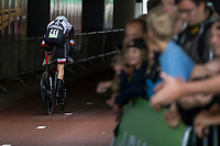 Dutch ITT Champion Tom Dumoulin (NED/Team Sunweb) starting his iTT<br /> <br /> Binckbank Tour 2017 (UCI World Tour)<br /> Stage 2: ITT Voorburg (NL) 9km