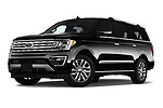 Stock pictures of low aggressive front three quarter view of a 2018 Ford Expedition XLT MAX 4x2 5 Door SUV