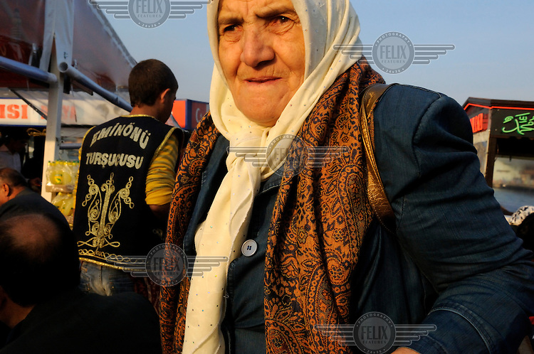 An old woman on the eminonu waterfront