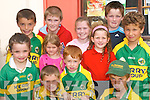 Welcome home: The children waiting for the cycling group to arrive in Listowel on Thursday afternoon. Cliona, Ciaran, Oran and Tiernan Pierse, Conor and Seamus Harty, Kevin and Aoife O'Donnell, Annmarie, Emily and Keelan Pierse.   Copyright Kerry's Eye 2008